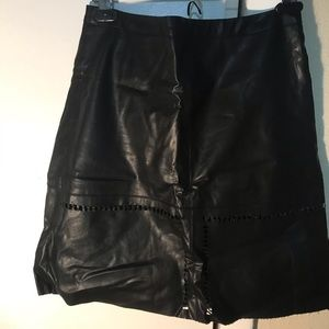 Dresses & Skirts - Faux Leather black skirt from Forever 21!